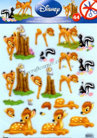Disney Bambi & Friends Die Cut 3d Decoupage Sheet